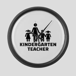 Kindergarten teacher Large Wall Clock