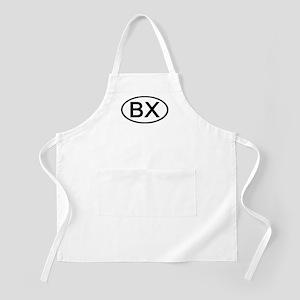 BX - Initial Oval BBQ Apron