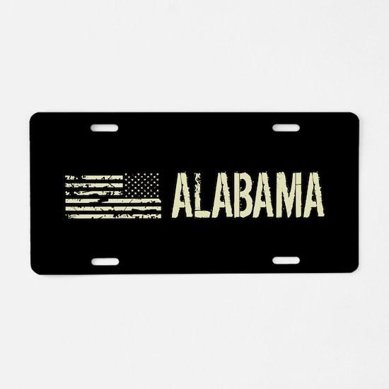 Black Flag: Alabama Aluminum License Plate
