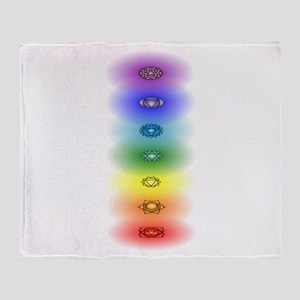 Chakra tower Throw Blanket