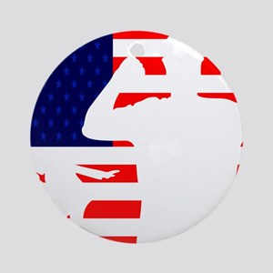 Otis Red White and Blue Ornament (Round)