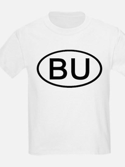 BU - Initial Oval Kids T-Shirt