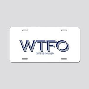 WTFO (over) Aluminum License Plate