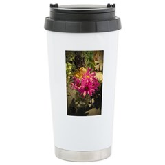 Pink Vintage Bouquet Stainless Steel Travel Mug