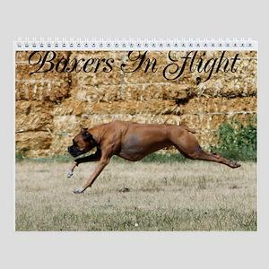 Boxers In Flight Wall Calendar