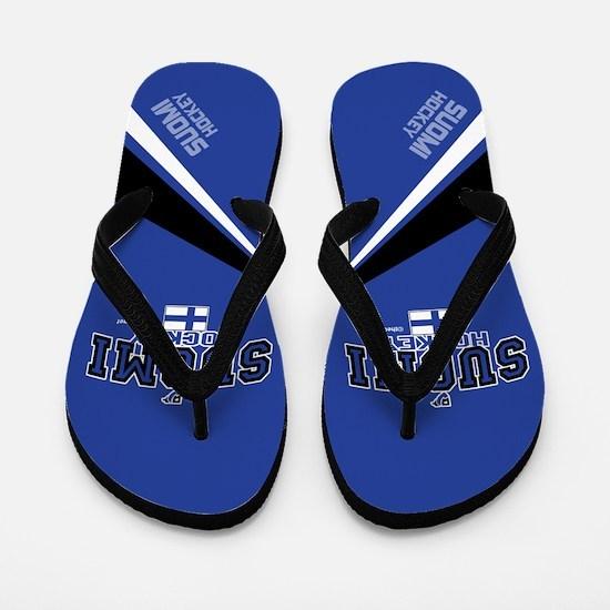 Finland(Suomi) Hockey Flip Flops