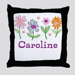 Daisy Garden Throw Pillow