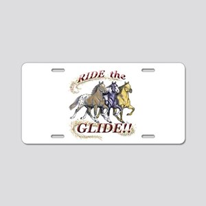RIDE THE GLIDE! Aluminum License Plate