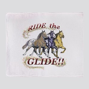 RIDE THE GLIDE! Throw Blanket