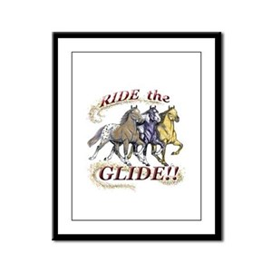 RIDE THE GLIDE! Framed Panel Print