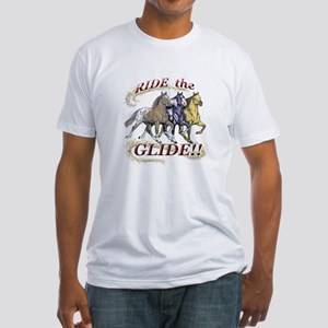 RIDE THE GLIDE! Fitted T-Shirt