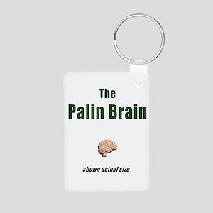 The Palin Brain Aluminum Photo Keychain