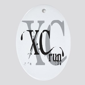 Cross Country XC Ornament (Oval)