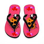 Lady Bug Flip Flops