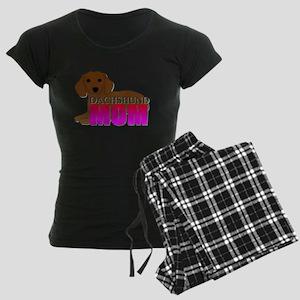Dachshund Mom Women's Dark Pajamas