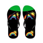 Rainbow Sunshine Flip Flops
