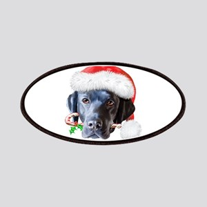 Black Lab Christmas Patches