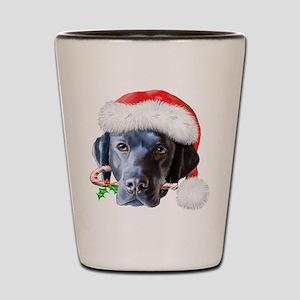 Black Lab Christmas Shot Glass