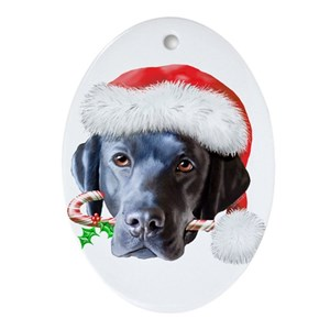 black lab christmas home decor cafepress - Black Lab Christmas Ornament