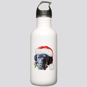 Black Lab Christmas Stainless Water Bottle 1.0L