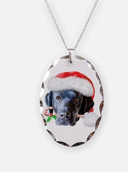 Black Lab Christmas Necklace