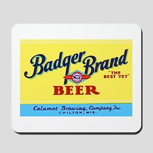 Wisconsin Beer Label 1 Mousepad
