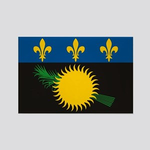 Guadeloupe Flag Rectangle Magnet (10 pack)