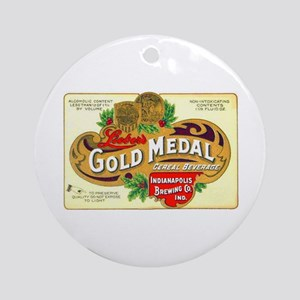 Indiana Beer Label 1 Ornament (Round)