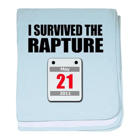 I Survived The Rapture - 21st baby blanket