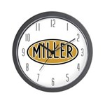 Miller Logo Wall Clock