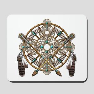 Turquoise Silver Dreamcatcher Mousepad