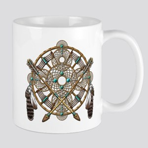 Turquoise Silver Dreamcatcher Mug