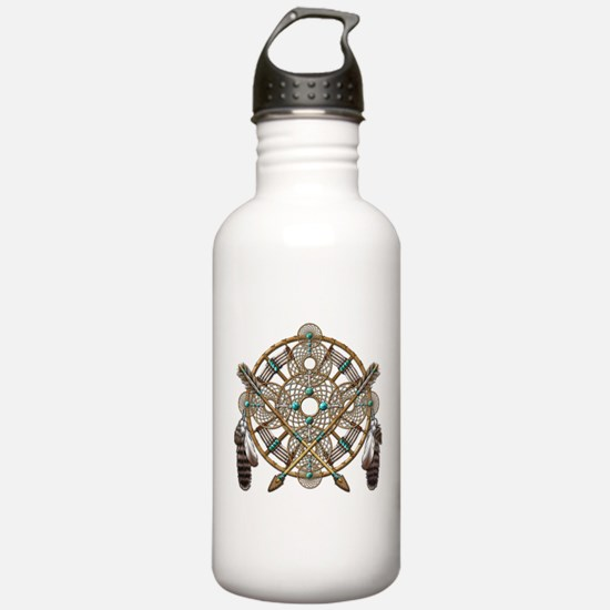 Turquoise Silver Dreamcatcher Water Bottle