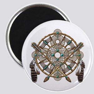 Turquoise Silver Dreamcatcher Magnet