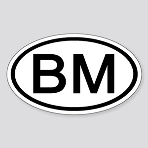 BM - Initial Oval Oval Sticker