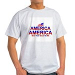 America Shed Your Grace On Me Ash Grey T-Shirt