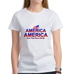 America Shed Your Grace On Me Women's T-Shirt