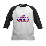 America Shed Your Grace On Me Kids Baseball Jersey