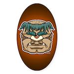 Mr. Cyclops Twobrow Sticker (Oval)