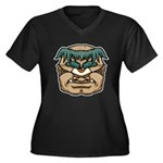 Mr. Cyclops Twobrow Women's Plus Size V-Neck Dark
