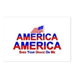 America Shed Your Grace On Me Postcards (Package o
