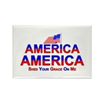 America Shed Your Grace On Me Rectangle Magnet (10