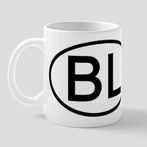 BL - Initial Oval Mug