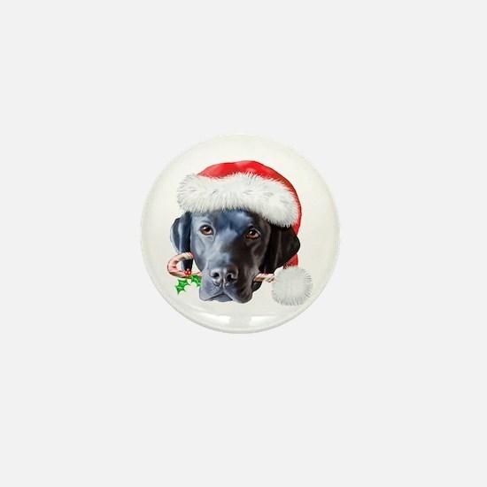 Black Lab Christmas Mini Button