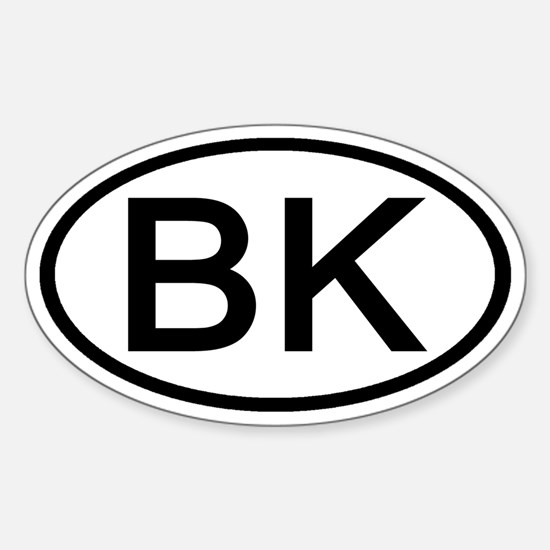 BK - Initial Oval Oval Decal