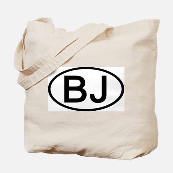 BJ - Initial Oval Tote Bag