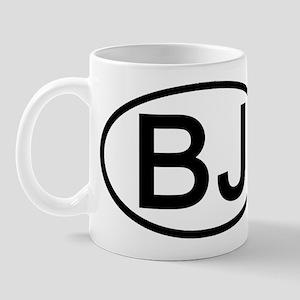 BJ - Initial Oval Mug