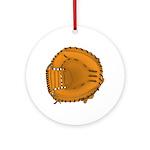 catcher's mitt Ornament (Round)