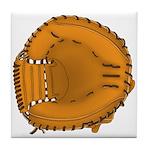 catcher's mitt Tile Coaster