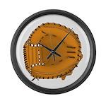 catcher's mitt Large Wall Clock